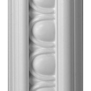 Egg and Dart White Dado 57mm by 2 metre