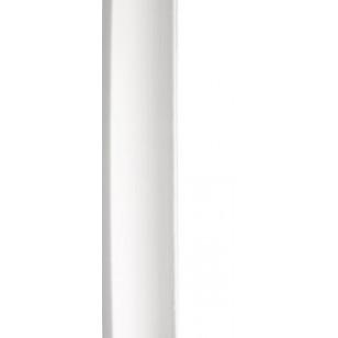 Plain White Quadrant 19mm by 2 metre