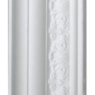 Leaf White Cornice 70mm by 2 metre