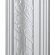 Leaf White Cornice 85mm by 2 metre