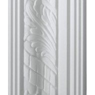 Leaf White Cornice 85mm by 2 metre