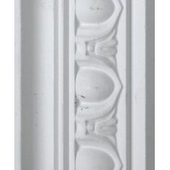 Egg and Dart White Cornice 55mm by 2.9 metre