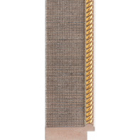 Silver mesh, embossed Gold rebate lip Picture Moulding 42mm