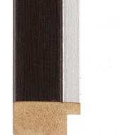 Wenge, Silver rebate lip Picture Moulding 30mm