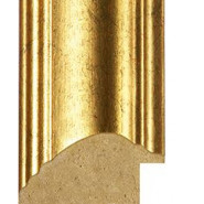 Speckled and Distressed Gold Picture Moulding 50mm