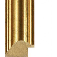 Speckled and Distressed Gold Picture Moulding 33mm