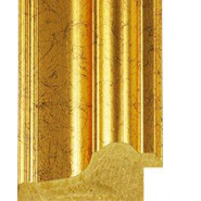 Marbled Gold Picture Moulding 84mm