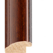 Tuscany walnut - black lip Picture Moulding 30mm