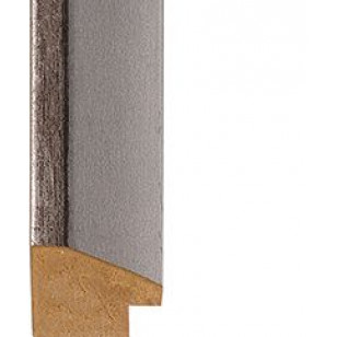Distressed Lead, Silver outer edge Picture Moulding 25mm