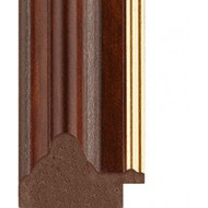 Mahogany, Gold rebate lip Picture Moulding 35mm