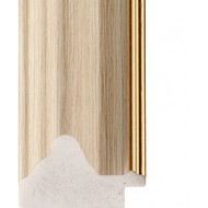 White Oak, Gold rebate lip Picture Moulding 35mm