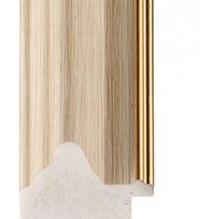White Oak, Gold rebate lip Picture Moulding 35mm