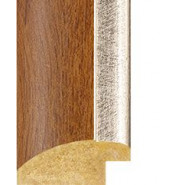 Golden Oak, Silver rebate lip Picture Moulding 30mm
