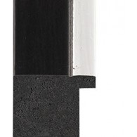 Black, Silver rebate lip Picture Moulding 40mm