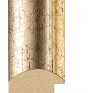 Marbled Silver, Gold rebate lip Picture Moulding 43mm
