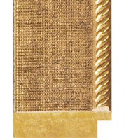 Gold mesh, embossed Gold rebate lip Picture Moulding 42mm