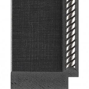 Black Mesh, Embossed Silver Rope