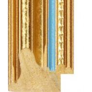 Marbled Gold, Blue line Picture Moulding 33.5mm