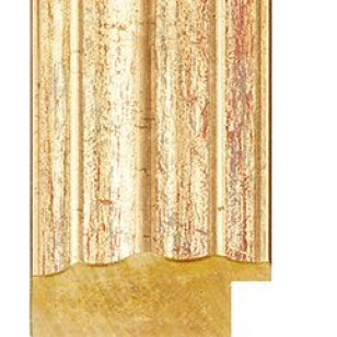 Distressed Gold Picture Moulding 38mm