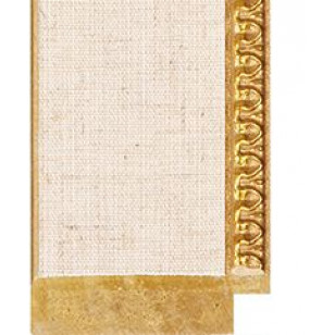 Hessian mesh, embossed Gold rebate lip Picture Moulding 42mm
