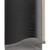 Black, Silver rebate lip Picture Moulding 95mm