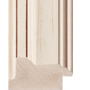 Cream, flecked, silver lip Picture Moulding 53mm