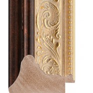 Gold, cream tones, bronze outer Picture Moulding 52mm