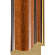 Teak, Gold rebate lip Picture Moulding 70mm