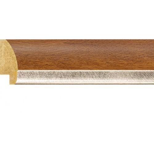 Emafyl Golden Oak Silver Rebate Lip Picture Moulding 30mm
