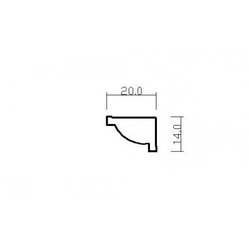 Emafyl Plain Golden Oak Quadrant 19mm By 2 Metre